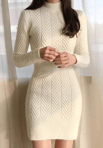 Stunning Angora Knit Dress