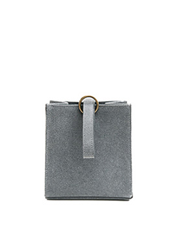 Suede Mini Tote Clutch