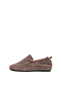 Natural Suede Loafers