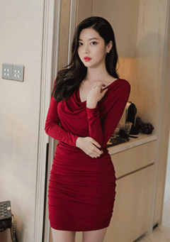 Shirring Bodyfit Dress