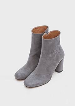 Smooth Suede High Ankle Boots