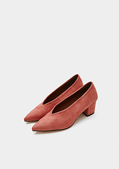 Suede Colorful Middle Heel