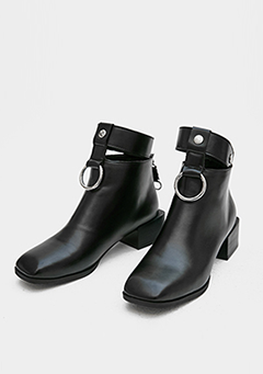 Buckled Ankle Strap Boots