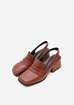 Classic Strap Chunky Heel Faux Leather Loafers