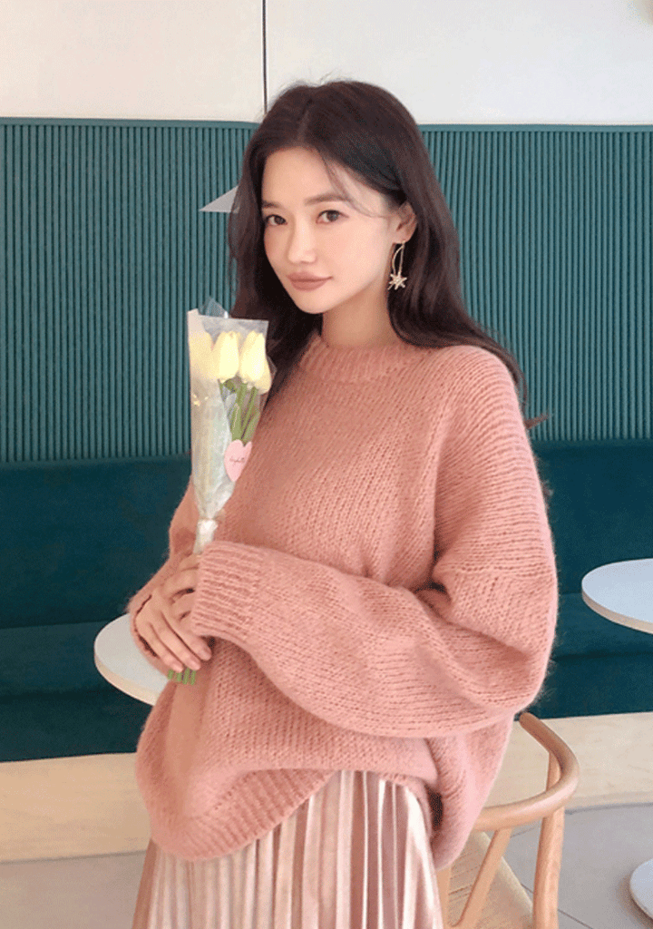 Love Me Tender Round Neck Knit Sweater