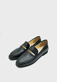 Simple Cut Out Point Loafers