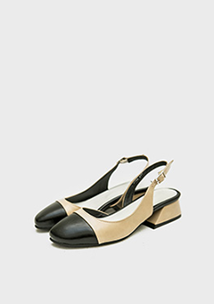 Two-Tone Toe Point Low Heels