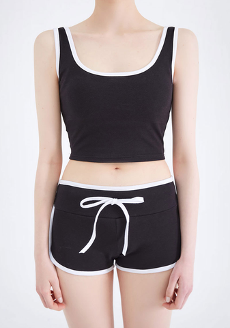 Wanna Be Line Sporty Top+Shorts Set