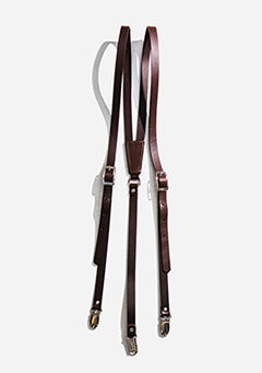 Brown Leather Strap Suspenders