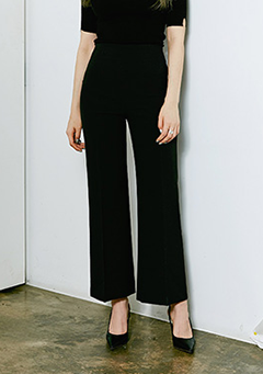 Side Zipper Wide Slacks