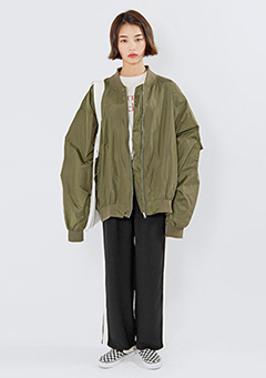 Totally Overfit Aviator Jacket