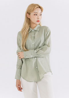 Multi Button Basic Linen Shirt