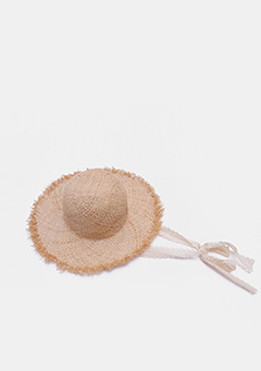 Vintage Lace Straw Hat