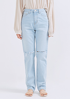 Clear Cutting Straight Jeans