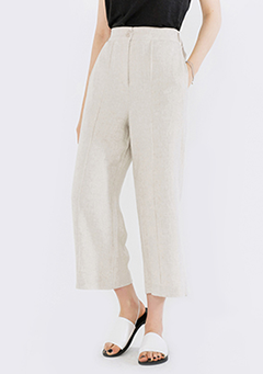 Wide Cropped Linen Pants