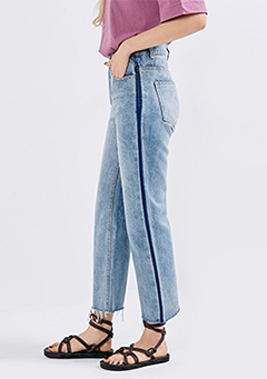 Line Point Wide Jeans