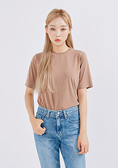 Basic Daily Simple Neck T-Shirt