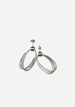 Silver Tangled Earrings