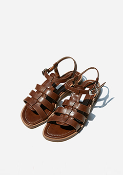 Leatherette Flat Gladiator Sandals