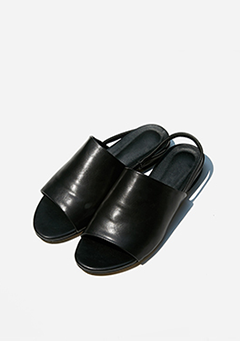 Back Strap Leatherette Sandals