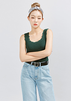 Soft Squared Neck Ribbed Top