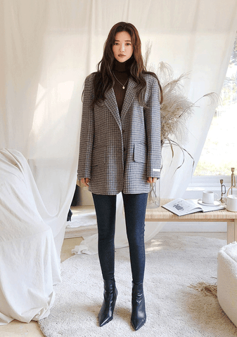 Straight Fit Wool Jacket
