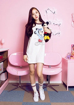 Mickey Raglan Long Tee