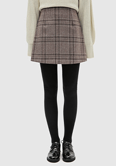 Soft Check Mini Skirt