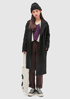 Two Button Simple Coat