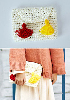 Cable Knitted Hanmade Clutch