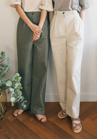 Cozy High Waist Wide Slacks