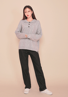 Collar Button Knit