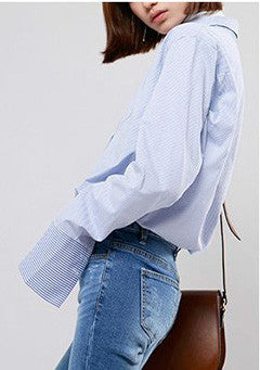 Over Cuffs Cotton Shirt