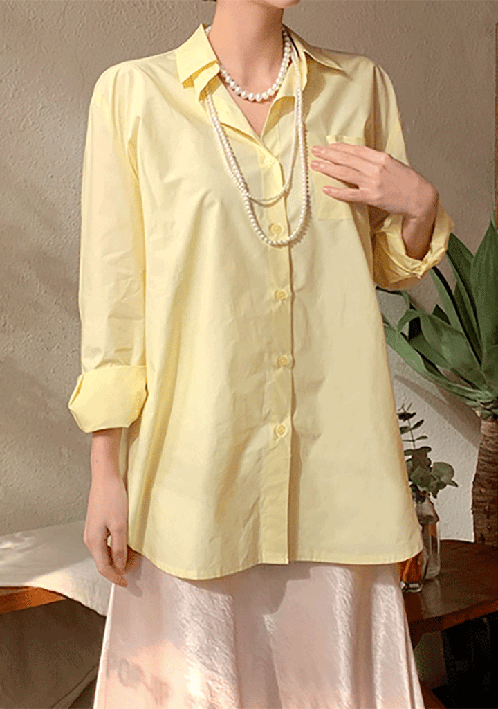 Trendy Yellow Color Shirt