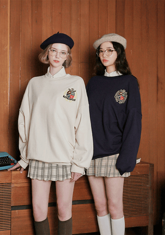 Pingpong Club. Crest Embroidery Sweatshirt