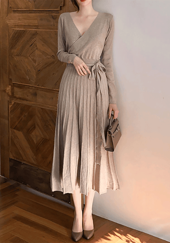 Ballerina Wrap Knit Dress