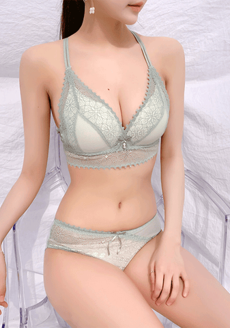 Under The Sun Lace Bra + Pantie Set