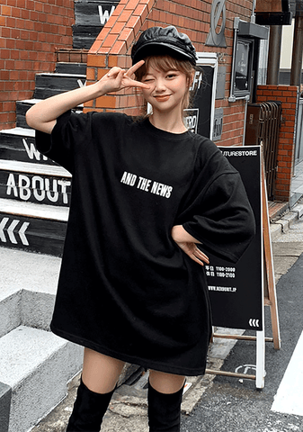 And The News Oversized Tee