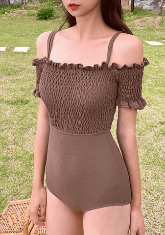 The Chocolate Taste Off-Shoulder One-Piece