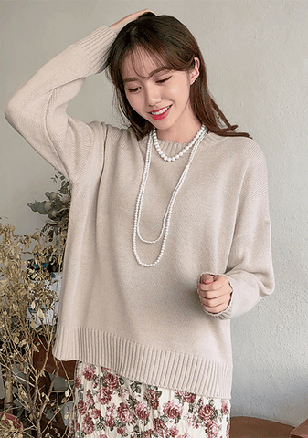 Round Neck Daily Knit Top