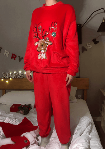 Lovely Rudolph Pajama Set