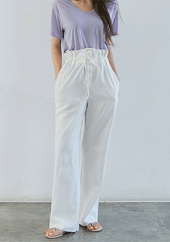 Natural Wide Pit Pants