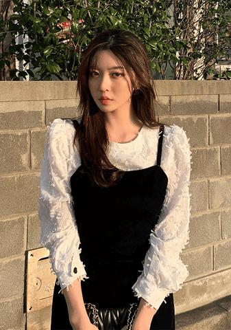 Fuzzy Ribbon Blouse