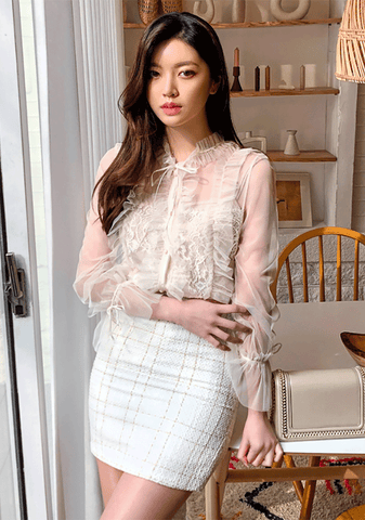 Queen Lace Sheer Blouse