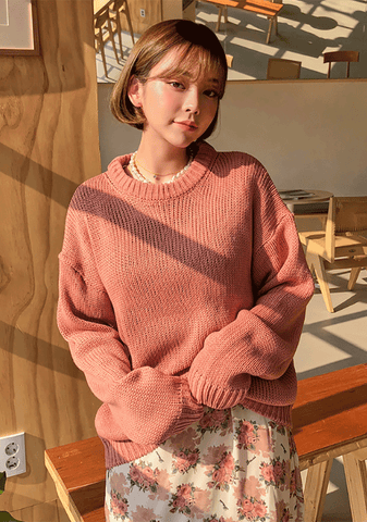 Spring Loose Fit Round Knit