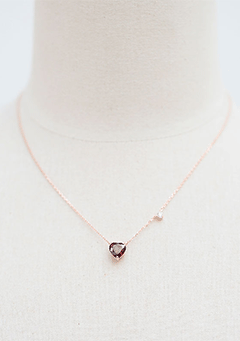 Heart Shaped Ruby Necklace