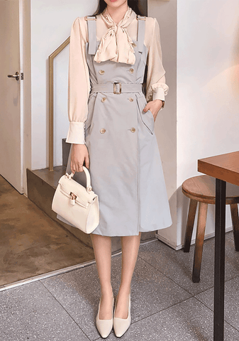 Belted Overall Dress