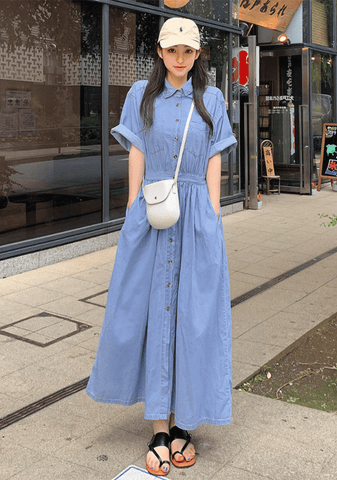 Casual Cute Denim Dress