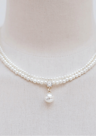 Faux Pearl Layered Necklace