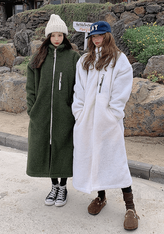 Long Demble Teddy Coat